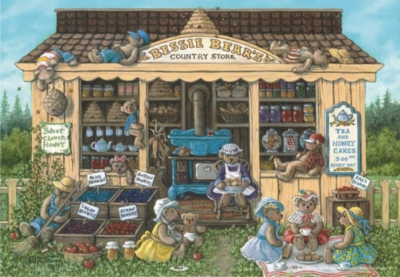 Bessie Bear's Country Store - 260pc Jigsaw Puzzle by Perre