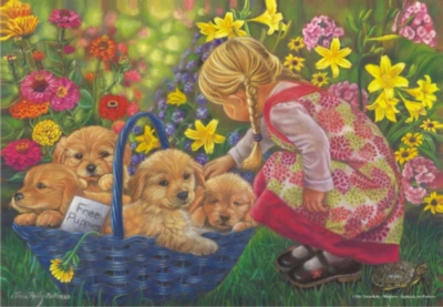 Basket Full Of Love - 260pc Jigsaw Puzzle by Perre