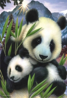 Panda - 260pc Jigsaw Puzzle by Perre