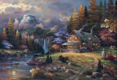 Mountain Hideway - 2000pc Jigsaw Puzzle by Perre
