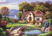 Stone Bridge Cottage - 2000pc Jigsaw Puzzle by Anatolian