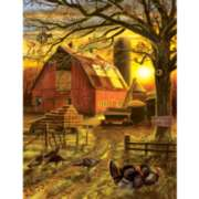 Large Format Jigsaw Puzzles - Sunset Barn