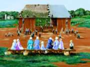 Jigsaw Puzzles - Barn Raising