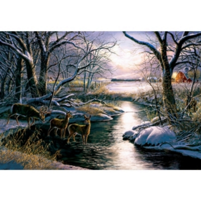 A Country Silent Night - 2000pc Jigsaw Puzzle by Sunsout