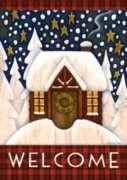 Snowy Cabin - Garden Flag By Toland