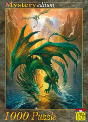 Dragon of the Lake - 1000pc Jigsaw Puzzle by Spiel Spass