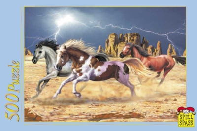 Horses In The Canyon - 500pc Jigsaw Puzzle by Spiel Spass