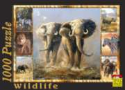 Elephants - 1000pc Jigsaw Puzzle by Spiel Spass