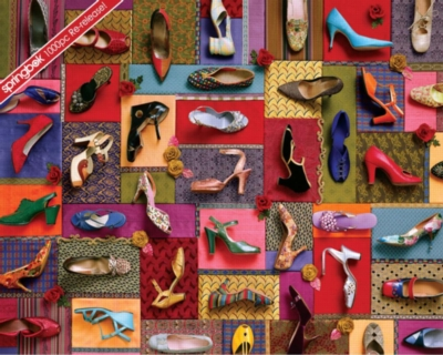Springbok Jigsaw Puzzles - Shoes! Shoes! Shoes!