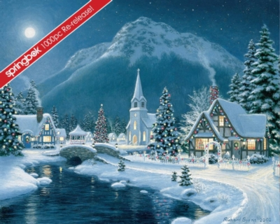 Moonlit Village - 1000pc Jigsaw Puzzle by Springbok