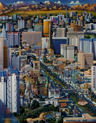 Las Vegas - 1000pc Jigsaw Puzzle by Dowdle