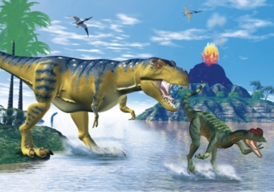 Jigsaw Puzzles - Dino's At The Lake