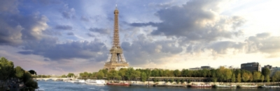 Paris - 1000pc Panoramic Jigsaw Puzzle by Kindertraume