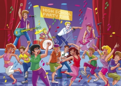 Music Puzzles - High School Dance