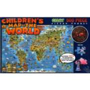 "Children's Map Of The World, 24"" x 36"" - 500pc Jigsaw Puzzle"