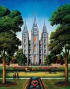 Salt Lake Temple - 500pc Jigsaw Puzzle by Dowdle
