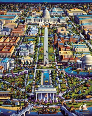 Washington D.C. - 1000pc Jigsaw Puzzle by Dowdle