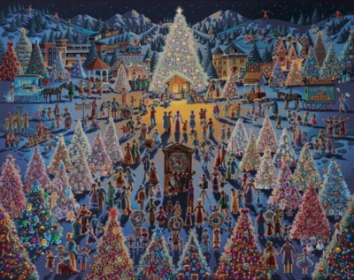Festival of Trees - 1000pc Jigsaw Puzzle by Dowdle