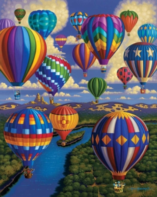 Balloon Festival - 1000pc Jigsaw Puzzle by Dowdle