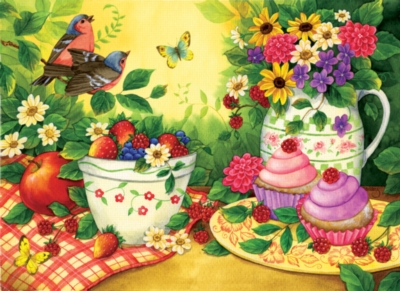 Large Format Jigsaw Puzzles - Cupcakes for Two