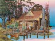 Grand Pops Cabin - 1000pc Jigsaw Puzzle By Sunsout
