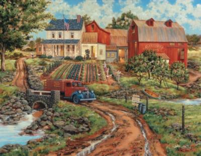 Large Format Jigsaw Puzzles - Grandma's Garden