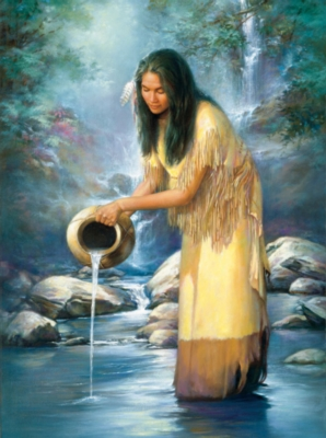 Waterfall Maiden - 1000pc Jigsaw Puzzle By Sunsout
