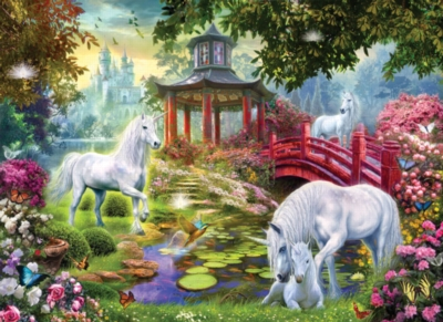 Unicorn Summer House - 500+pc Large Format Jigsaw Puzzle By Sunsout
