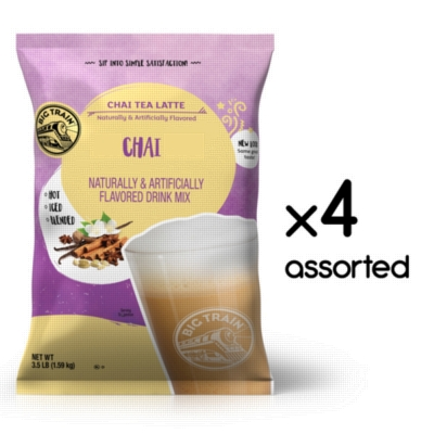 Big Train Chai Tea - 3.5 lb. Bulk Bag Assorted Case