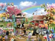 Kitties on the Farm - 300pc Large Format Jigsaw Puzzle By Sunsout