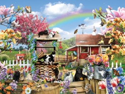 Large Format Jigsaw Puzzles - Kitties on the Farm