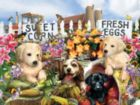 Puppies on the Farm - 300pc Large Format Jigsaw Puzzle By Sunsout