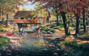 Rock Ford and Toll Bridge - 550pc Jigsaw Puzzle By Sunsout