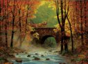 Autumn Bridge - 1500pc Horse Jigsaw Puzzle By Sunsout