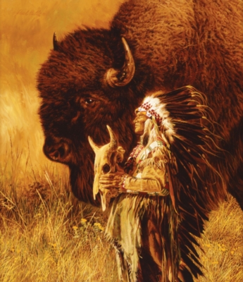 Spirit of Tatanka - 550pc Jigsaw Puzzle By Sunsout