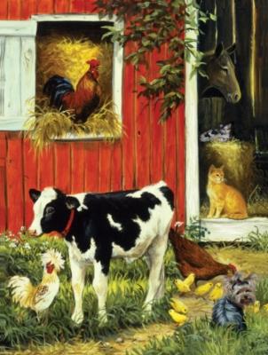Jigsaw Puzzles - Barnyard Brood
