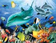 Dolphin Light - 1000+pc Large Format Jigsaw Puzzle By Sunsout