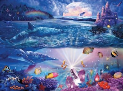 Dolphin Castle - 1000pc Jigsaw Puzzle By Sunsout