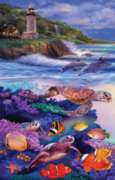 Dolphin Run - 1000pc Jigsaw Puzzle By Sunsout