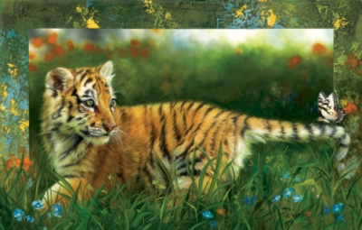 Tiger by the Tail - 1000pc Jigsaw Puzzle By Sunsout