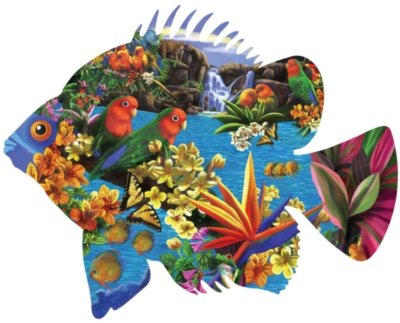 Shaped Jigsaw Puzzles - Tropical Setting