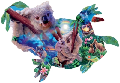 Koala Kingdom - 1000pc Shaped Jigsaw Puzzle By Sunsout
