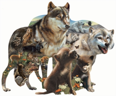 Wolf Pack - 1000pc Shaped Jigsaw Puzzle By Sunsout
