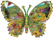 Monarch Meadow - 1000pc Shaped Jigsaw Puzzle By Sunsout
