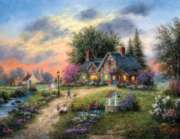 Stoney-Brook Cottage - 1000pc Large Format Jigsaw Puzzle by Sunsout