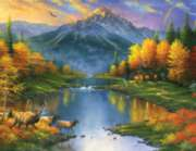 Mountain Retreat - 1000pc Large Format Jigsaw Puzzle by Sunsout