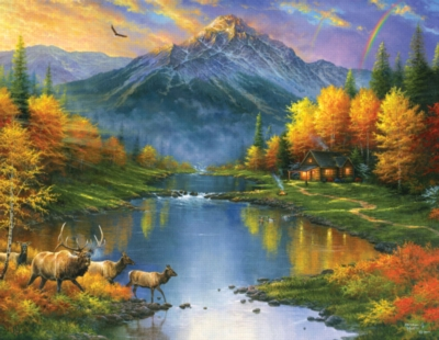 Large Format Jigsaw Puzzles - Mountain Retreat