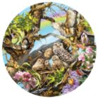 Family of Owls - 1000pc Round Jigsaw Puzzle By Sunsout