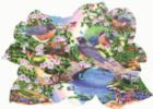 Robins in the Park - 1000pc Shaped Jigsaw Puzzle By Sunsout