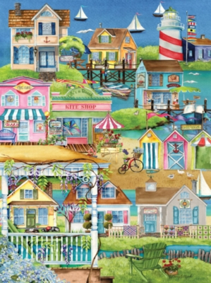 Jigsaw Puzzles - Village By The Sea